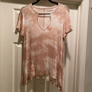 Mudd tie dye cut out junior top Sz large